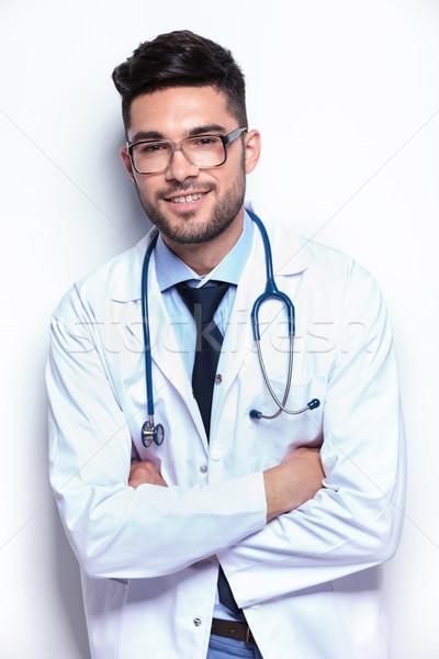 молодые Медик рук мужчины Постоянный Сток-фото © feedough
