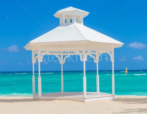 wedding arch  on the beach of punta cana Stock photo © feedough