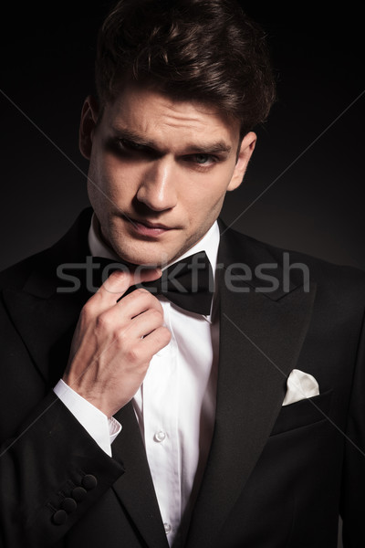 young elegant man lifting an eyebrow Stock photo © feedough