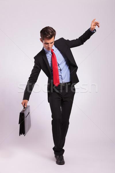 business man balancing on rope Stock photo © feedough