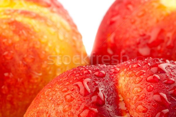 Fraîches gouttes d'eau eau fruits été Photo stock © feedough