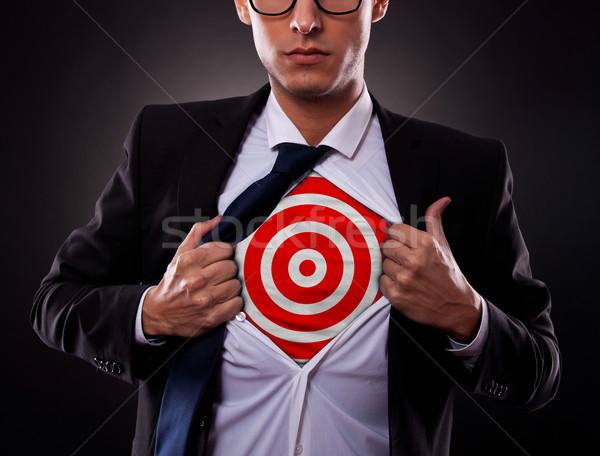 Uomo d'affari target shirt giovani buio Foto d'archivio © feedough