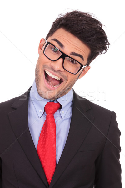 business man crazy with mouth opened Stock photo © feedough