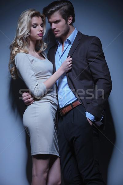 страстный пару Постоянный женщину девушки любви Сток-фото © feedough