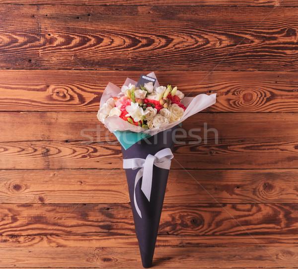 Bella fiori bouquet arco amore Foto d'archivio © feedough