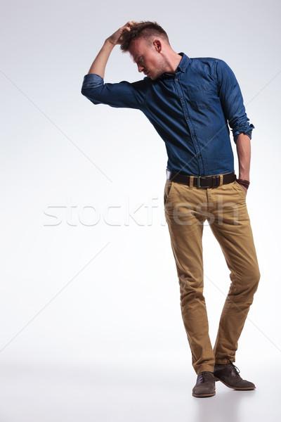 Gündelik adam kafa tam uzunlukta fotoğraf genç Stok fotoğraf © feedough