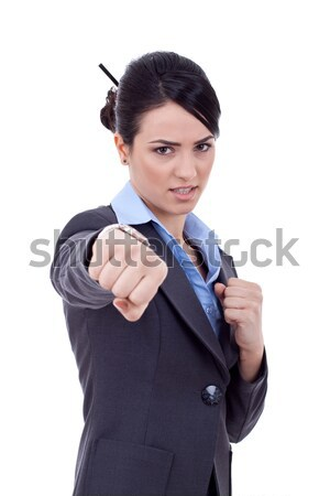 Serious business man showing the thumb down gesture. Stock photo © feedough