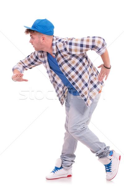 Stockfoto: Mannelijke · danser · zijaanzicht · jonge · dans