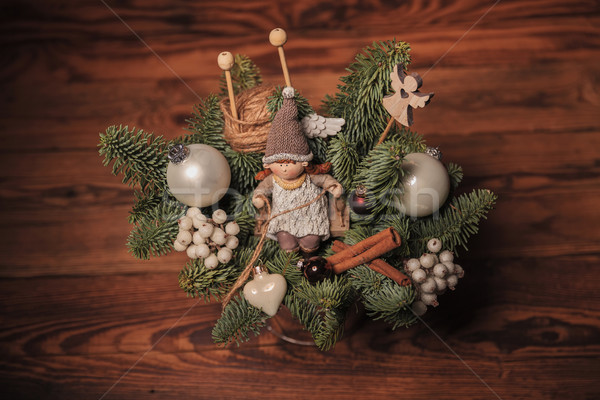 Stock photo: christmas table decoration
