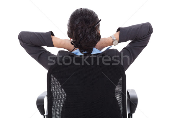 Satisfied business woman Stock photo © feedough