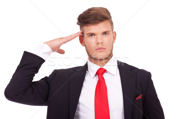 business man salutes Stock photo © feedough