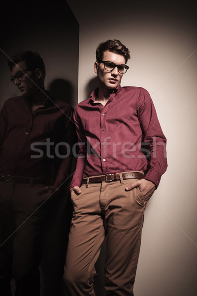 Young business man looking down  Stock photo © feedough