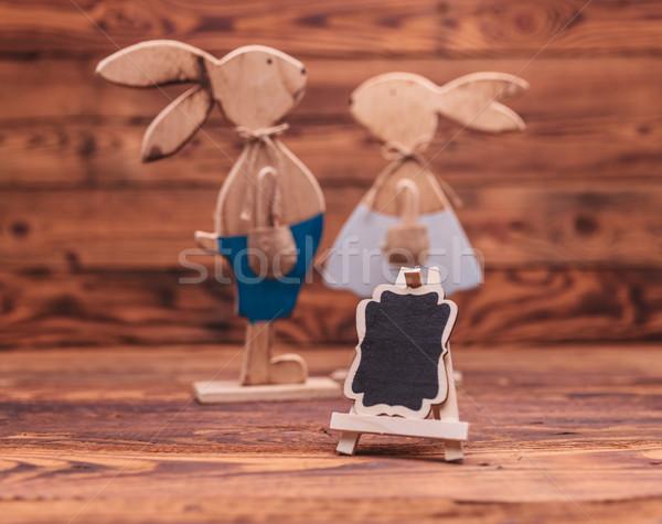 óriásplakát fából készült húsvét régi fa szeretet fa Stock fotó © feedough