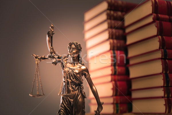 law books and justice statue Stock photo © feedough