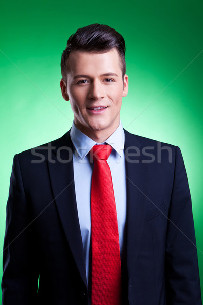 handsome young business man Stock photo © feedough