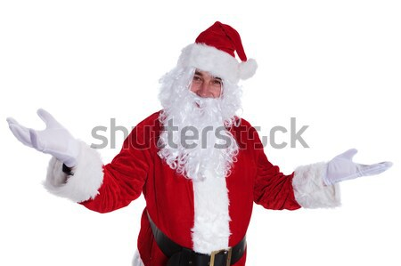 happy santa claus is welcoming you with joy Stock photo © feedough