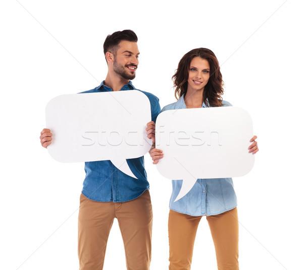 Homem namorada tanto manter Foto stock © feedough