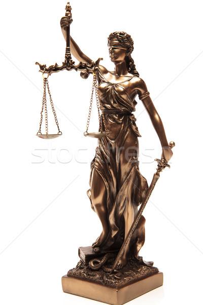 Justicia ciego estatua blanco ley espada Foto stock © feedough