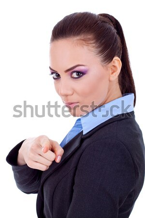 business woman pointing at you Stock photo © feedough