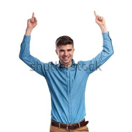 Super eccitato giovani uomo urlando Foto d'archivio © feedough