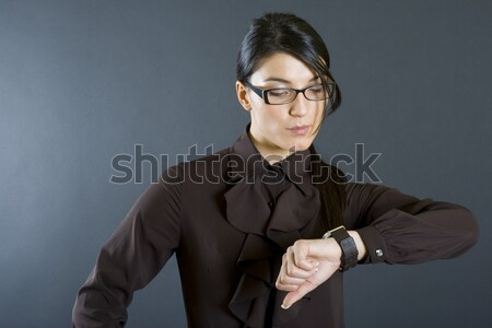 elegant man in tuxedo sitting and holds collar Stock photo © feedough