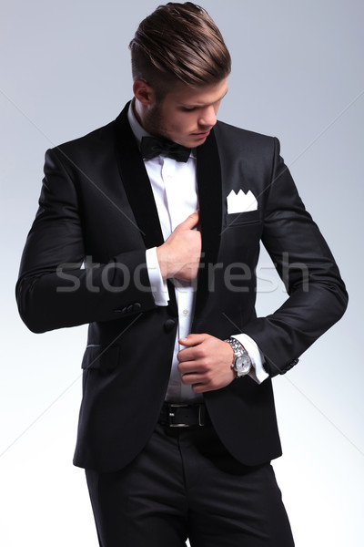 business man adjusting suit Stock photo © feedough