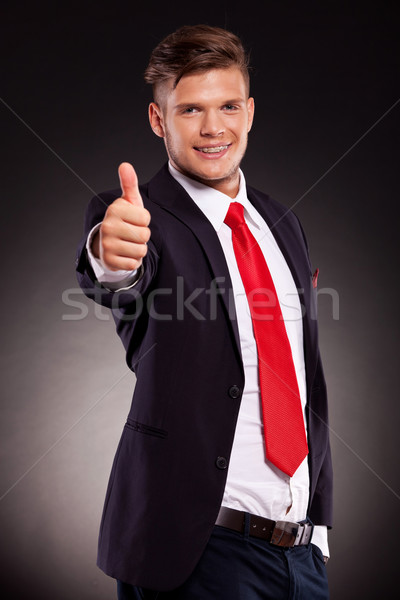 Stock photo: business man thumbs up