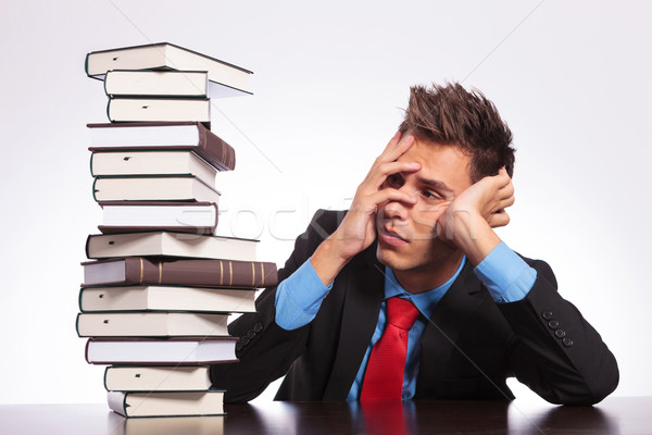man at desk has much to learn Stock photo © feedough