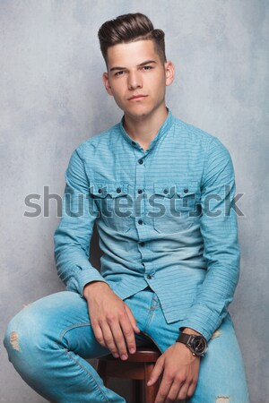 casual man dressing up Stock photo © feedough