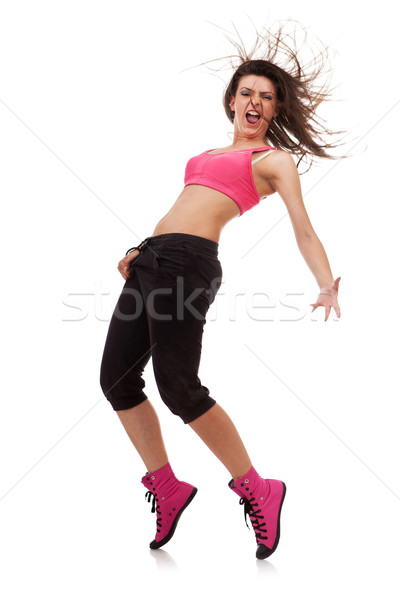 woman dancer in a crotch-holding pose Stock photo © feedough