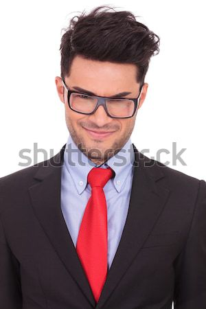 Stock photo: business man with a malitious look