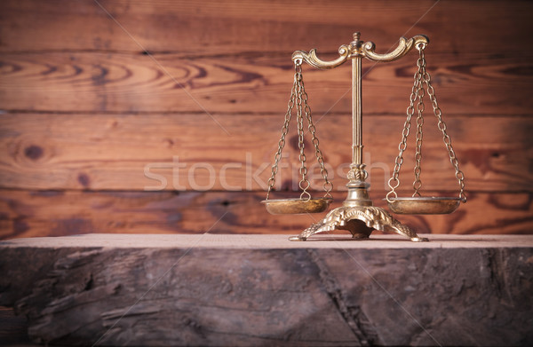 Bağbozumu altın ölçek üst eski meşe Stok fotoğraf © feedough