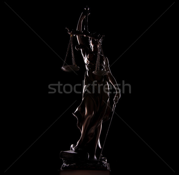 full length picture of goddess of justice statue Stock photo © feedough
