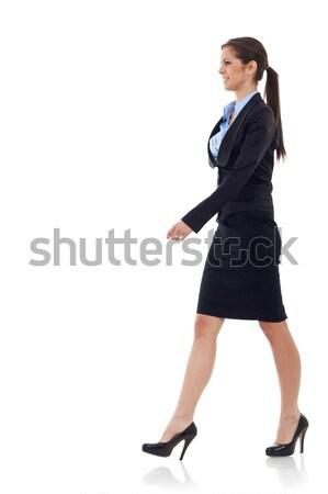 young business woman  walking Stock photo © feedough