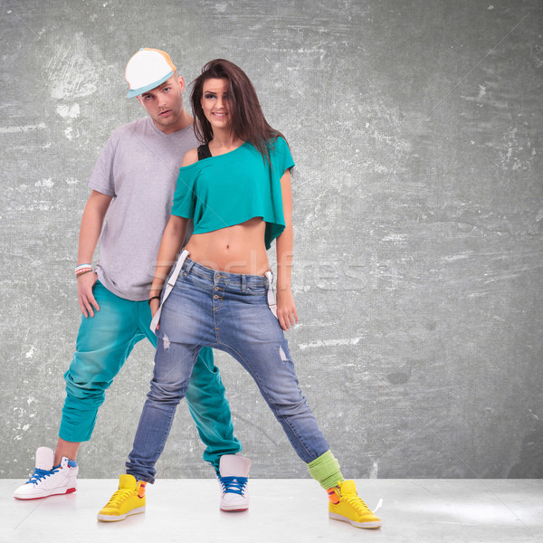 young man and woman  hip-hop dancers Stock photo © feedough