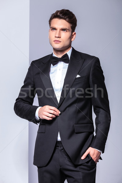 Business man holding one hand in his pocket Stock photo © feedough