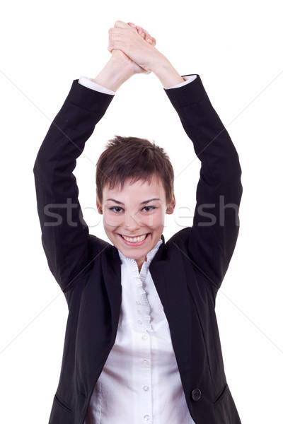 joyous business woman Stock photo © feedough