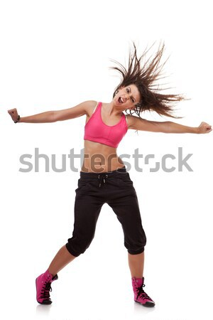 Stock fotó: Fiatal · táncos · kiabál · karok · nyújtott · ki