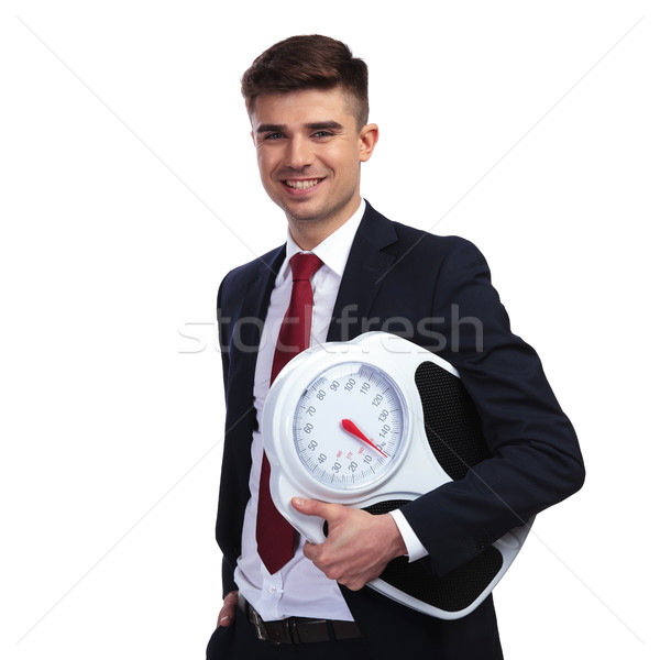 happy businessman promoting a healthy lifestyle Stock photo © feedough