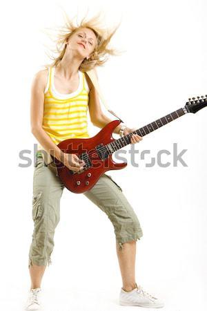 女性 パンク ロックスター 演奏 エレキギター ストックフォト © feedough