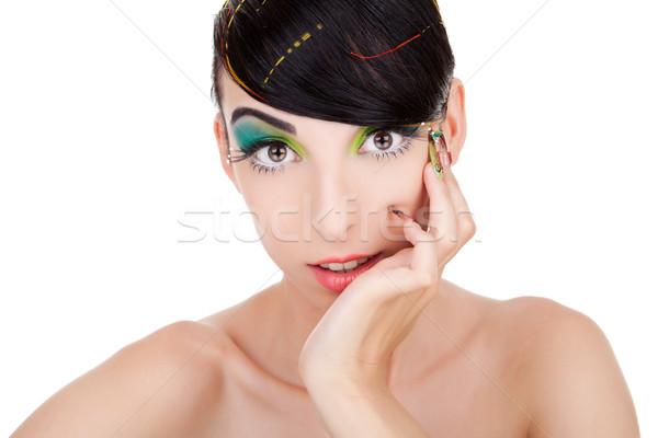 Stunning model watching the camera Stock photo © feedough