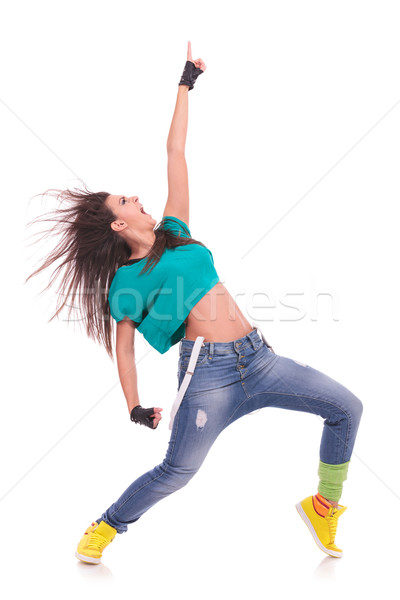woman dancer screaming Stock photo © feedough