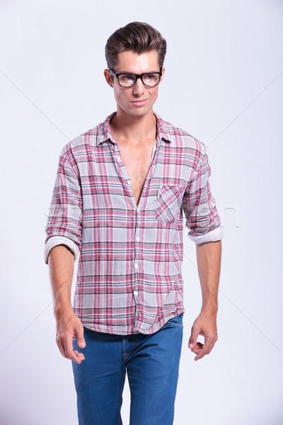 casual man walking forward Stock photo © feedough