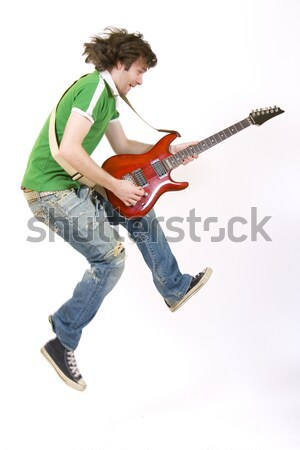 guitarist leans back and screams Stock photo © feedough