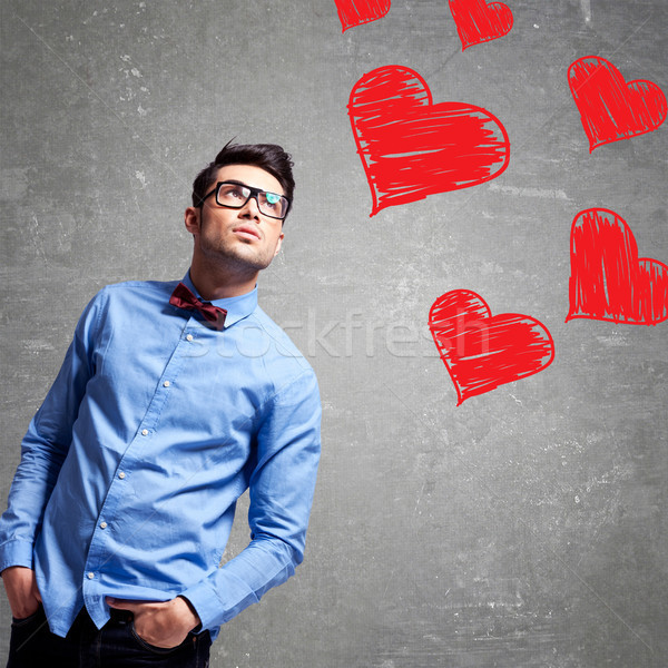 man thinks at love Stock photo © feedough