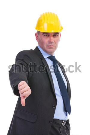old engineer shows thumb down Stock photo © feedough