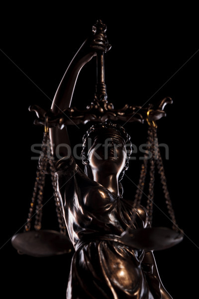 the blind goddess of justice holding the scales  Stock photo © feedough