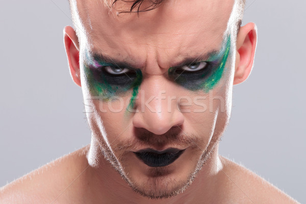 casual man with makeup frowns at you Stock photo © feedough