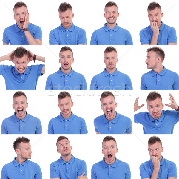 фото набор случайный молодым человеком Выражения шестнадцать Сток-фото © feedough