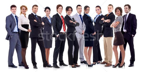 Stock fotó: Sikeres · boldog · üzleti · csapat · üzletemberek · nők · izolált